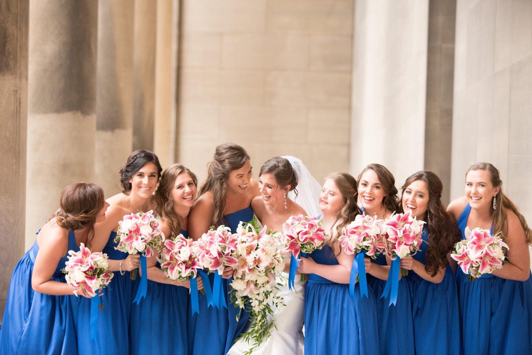 A blue wedding